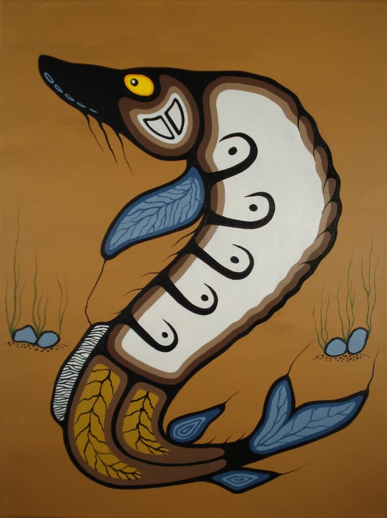 lake sturgeon art by Mario Peters